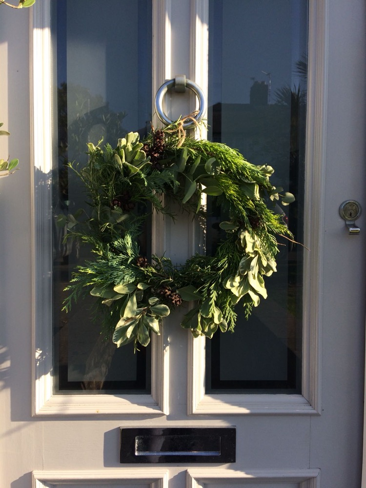 Workshop Christmas Door Wreath Budding Designs Flower Studio